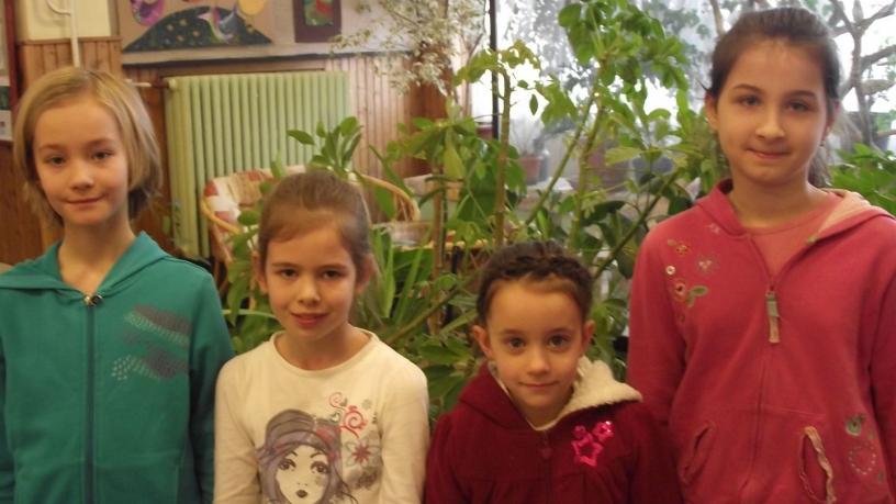 Kelemen Boglárka,  Hildebrandt Anna, Remetehegyi Melanie a kerületi rajzversenyen 7., Harsányi Lili 10. helyezést nyert