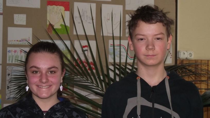 Juhász Dorka és Késmárky Csaba a kerületi matematika verseny 8. és 9. helyezettjei