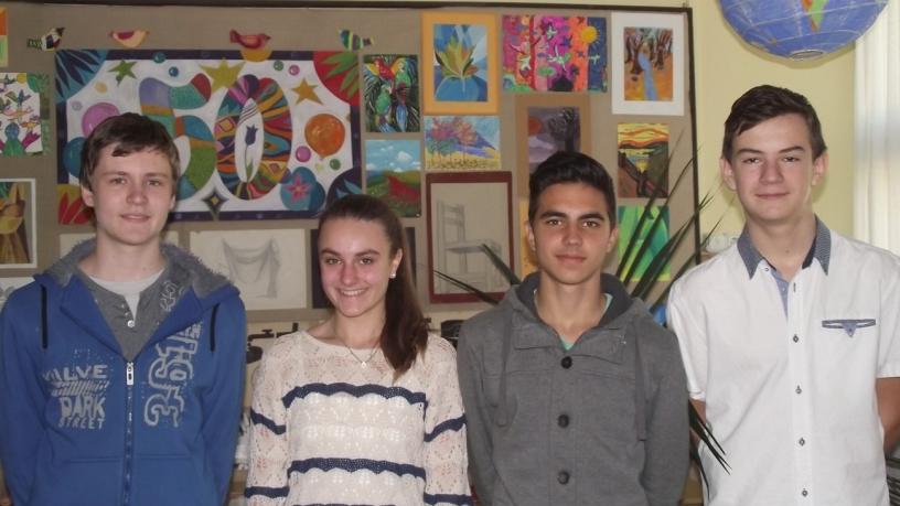Bolyai matematika területi verseny 5. helyezést elért  8.a osztályos csapata