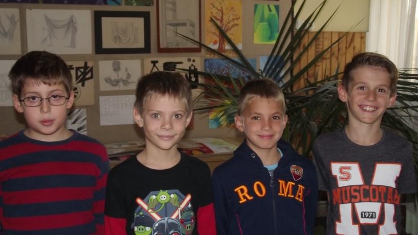 Bolyai matematika területi verseny 9. helyezést elért  3.c osztályos csapata