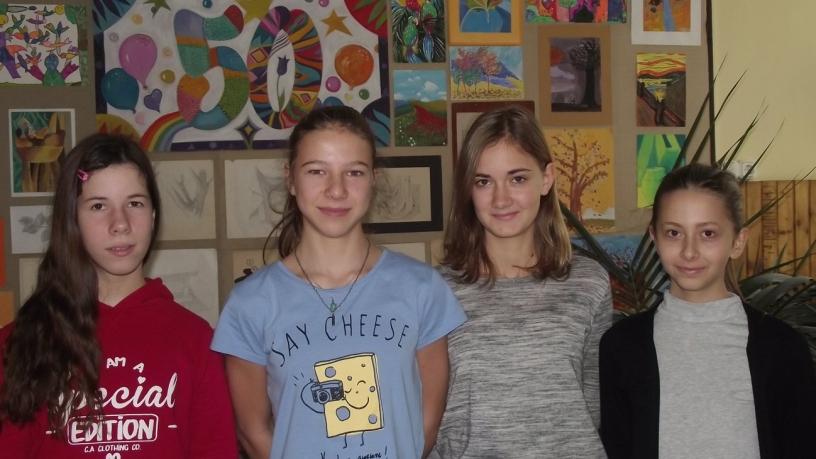 Bolyai matematika területi verseny 9. helyezést elért  7.a osztályos csapata