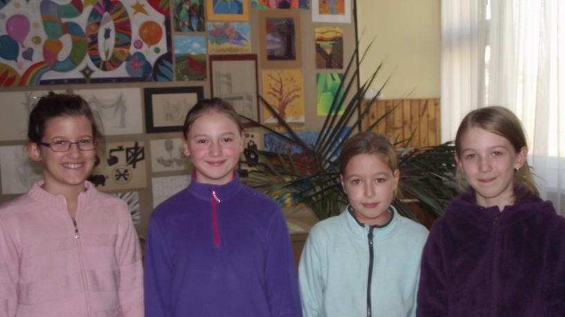 Bolyai matematika területi verseny 15. helyezést elért  4.b osztályos csapata