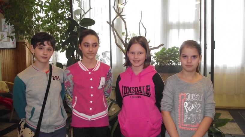 Bolyai természettudományi verseny 21. helyezést elért 6.a osztályos csapata