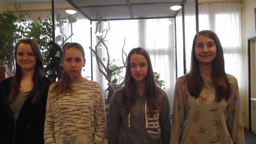 Bolyai természettudományi verseny21. helyezést elért 8.b osztályos csapata