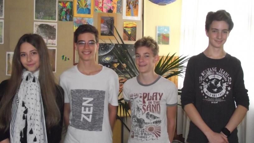 Bolyai területi matematika verseny 8.a osztályos győztes csapata