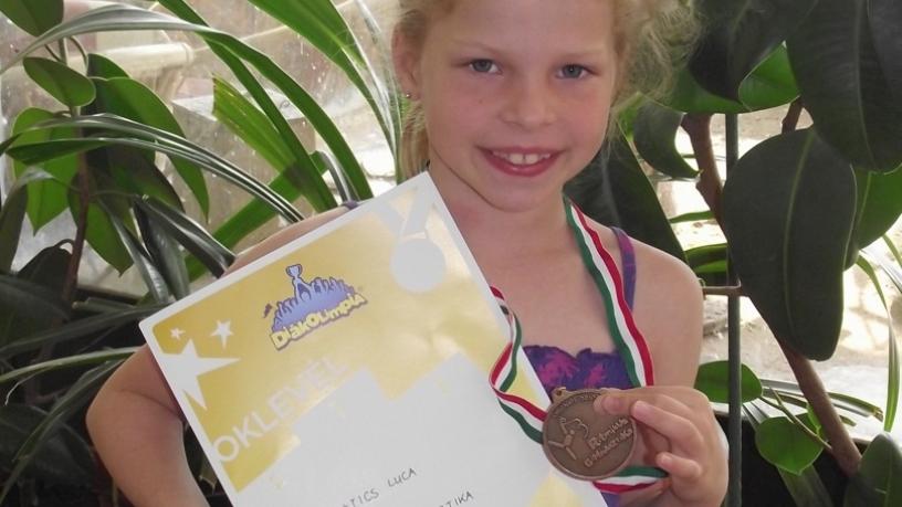 Matics Luca 1.a diákolimpia országos döntö-ritmikus gimnasztika 3. hely