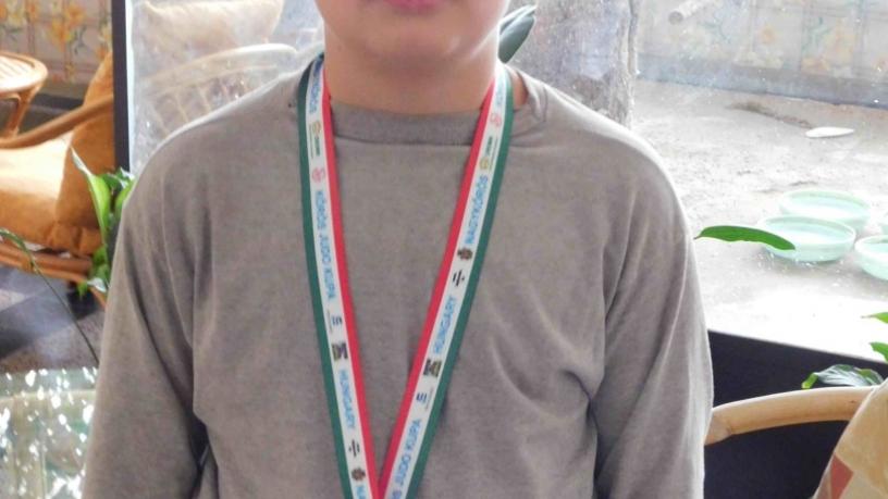 Papp Kristóf 5.b a IV. Kőrös Kupa Judo versenyen 3. lett