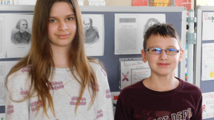 Kerületi kémia versenyen Derzsy Léna 7., Nagy Olivér 9. lett