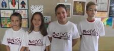 Budapesti Bolyai anyanyelvi csapatverseny 2. helyezést elért 4.a osztályos csapata