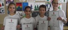 Országos Bolyai magyar verseny 11.helyezett 3.b osztályos csapata