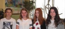 Bolyai anyanyelvi csapatverseny 3. helyezést elért csapat a 8. évfolyamon