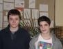 Torday Nándor és Juhász Soma a Hevesi György kémia kerületi verseny4. és 10. helyezettjei