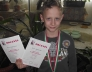 Borsos Miklós 2.b Zrínyi körzeti matematika verseny 2. helyezettje