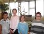 Bolyai anyanyelvi csapatverseny 10 . helyezést elért csapata a 4. évfolyamon