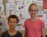 kerületi matematika versenyen Fazekas Nóra 4.b 3., Borsos Miklós 4.b 5. lett